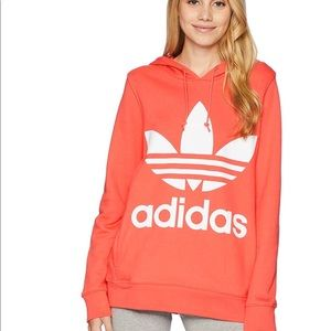 Adidas trefoil hoodie women sz XS